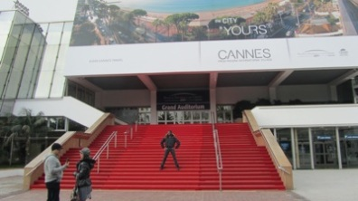 Keelan Whitmore on the red carpet in Cannes