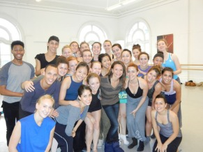 Monica Proenca with LINES Ballet Training Program students