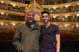 Alonzo King and Michael Montgomery, photo by Franck Thibault