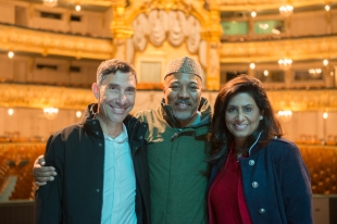 Jean Marc Torre, Alonzo King, Nandita Bakshi, photo by Franck Thibault