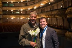 Alonzo King and Karim Baer, photo by Franck Thibault