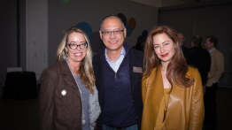 Heather King, Al Wong, and friend