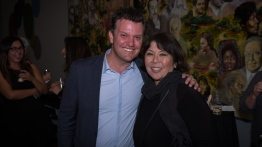 Executive Director Karim Baer and Betty Louie