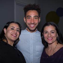 Bella Qureshi, Michael Montgomery and Maria Caprio