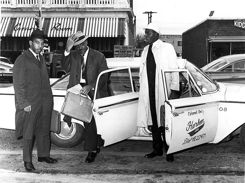 Attorney CB King (left) with attorney Donald L Hollowell (center)