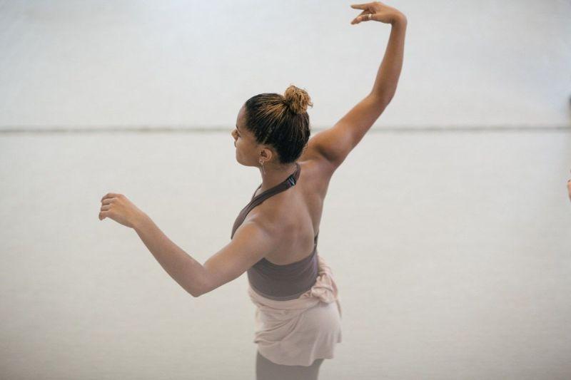 Training Program artist dancing in class at LINES Dance Center