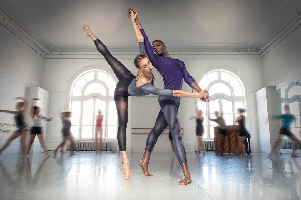 LINES BFA at Dominican graduates Ilaria Guerra and Jeffrey Van Sciver partnering at LINES Dance Center